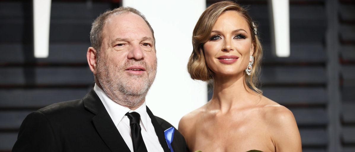 89th Academy Awards - Oscars Vanity Fair Party - Beverly Hills, California, U.S. - 26/02/17 – Producer Harvey Weinstein and fashion designer Georgina Chapman. REUTERS/Danny Moloshok