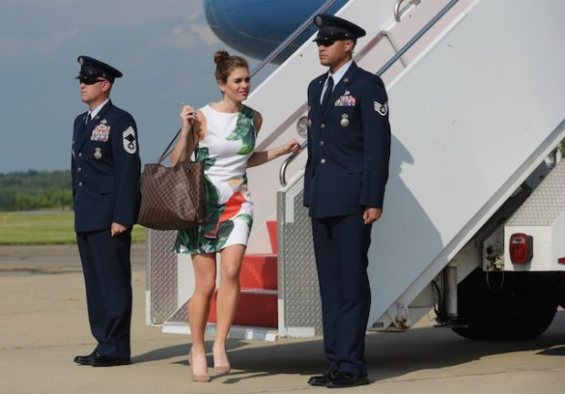 White House Director of Strategic Communications Hope Hicks steps off off Air Force One upon arrival in Morristown, New Jersey on June 30, 2017. Hicks is travelling with US President Donald Trump who is heading to Bedminster, New Jersey to spend the weekend at his golf club. (Photo: MANDEL NGAN/AFP/Getty Images)