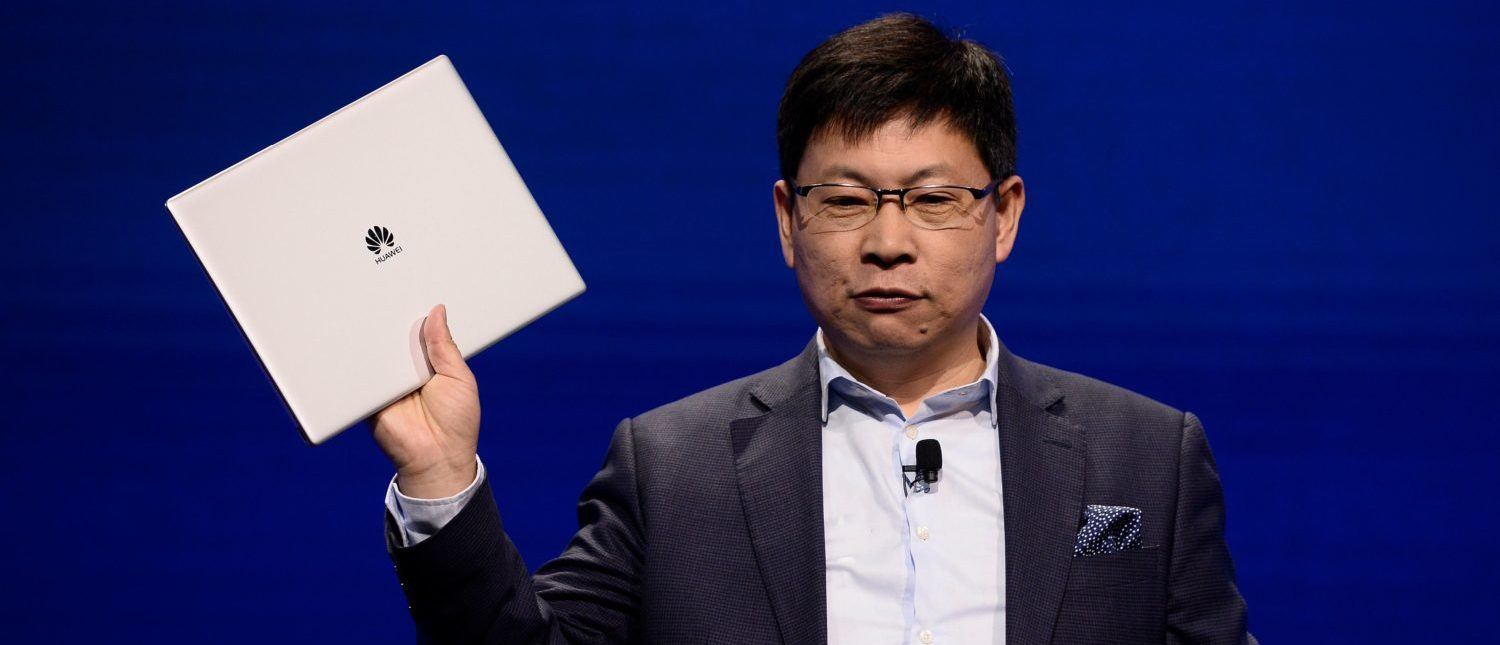 Huawei CEO Richard Yu gives a press conference to present the new Huawei MateBook X pro laptop on February 25, 2018 in Barcelona, on the eve of the inauguration of the Mobile World Congress (MWC). The Mobile World Congress, the world's biggest mobile fair, is held in Barcelona from February 26 to March 1. (Photo: JOSEP LAGO/AFP/Getty Images)