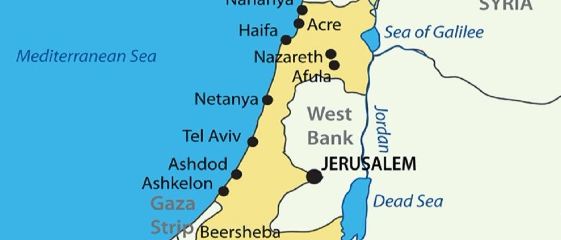 Israel map Shutterstock/pavalena