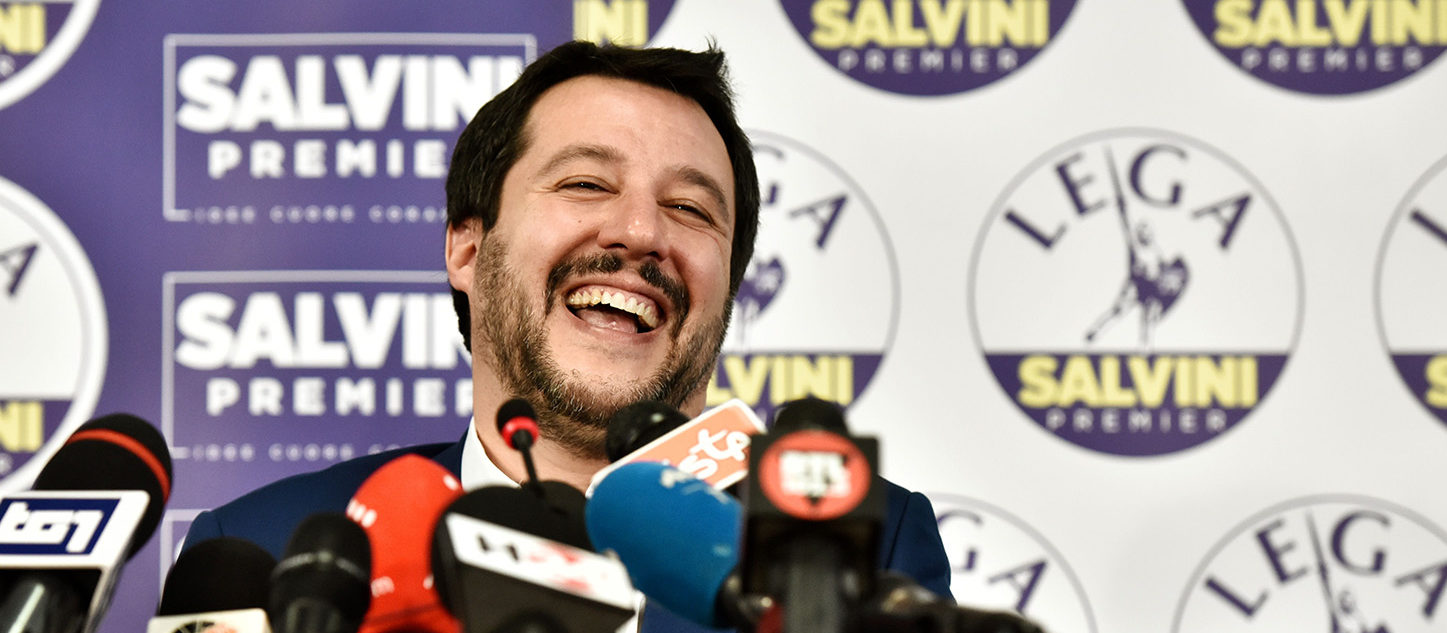 A surge for populist and far-right parties in Italy's weekend election could result in a hung parliament with a right-wing alliance likely to win the most votes but no majority, AFP reports. PIERO CRUCIATTI/AFP/Getty Images