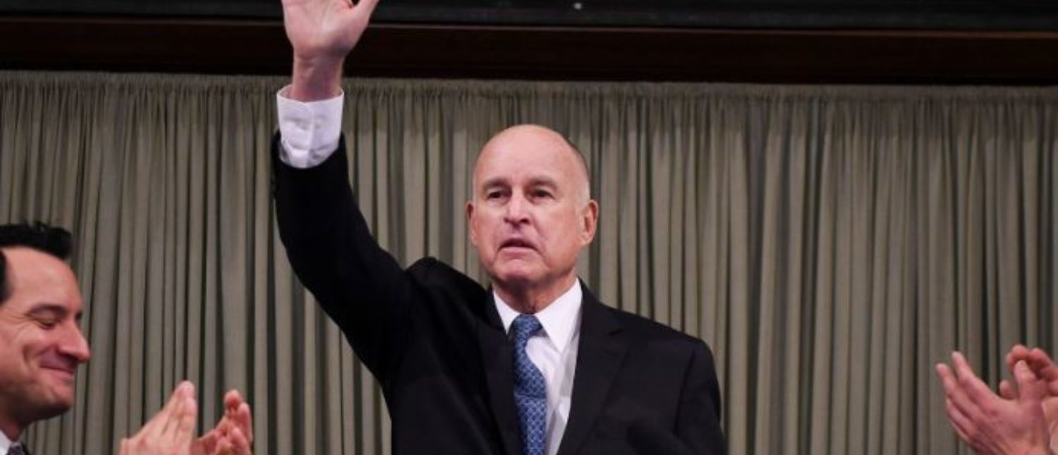Governor Jerry Brown delivers his final State of the State address in Sacramento, California, U.S. January 25, 2018. REUTERS/Hector Amezcua/Pool | Middle Class Fleeing California In Droves