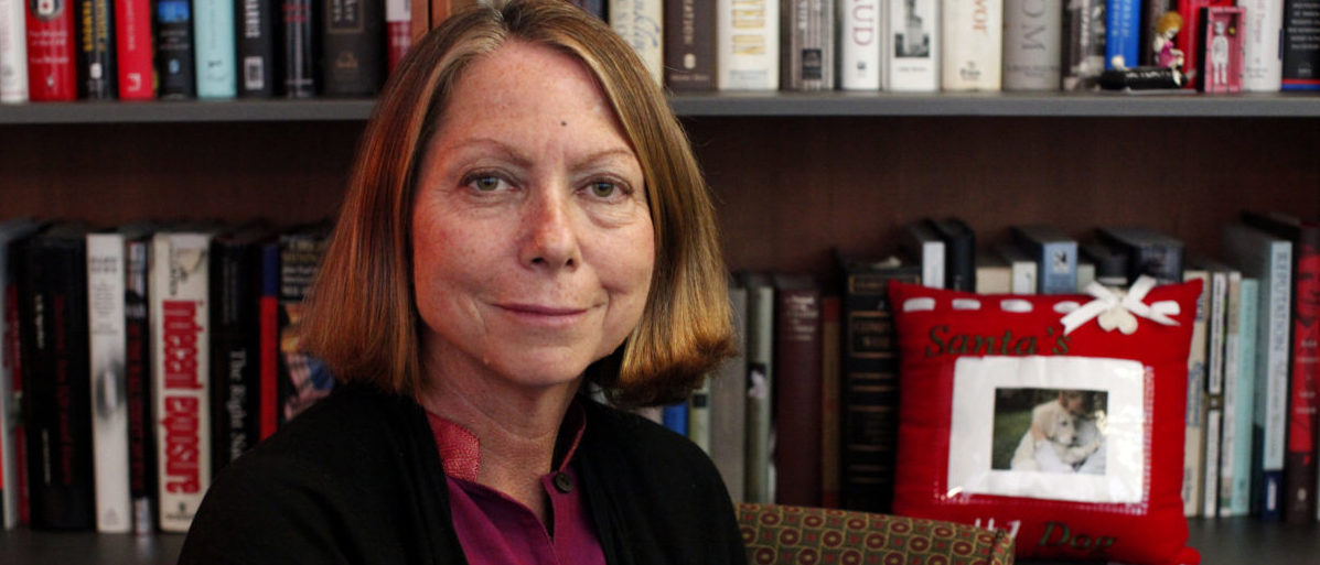 New York Times Executive Editor Jill Abramson poses for a photo during an interview in New York September 21, 2011. New York Times Co warned its third-quarter advertising revenue would drop by a larger-than-expected 8 percent, hurt by a pullback in real estate, help wanted and national auto ads. Abramson, told Reuters in the interview she hoped the ad revenue drop would not lead to any more job cuts at the paper over the next year. REUTERS/Kena Betancur