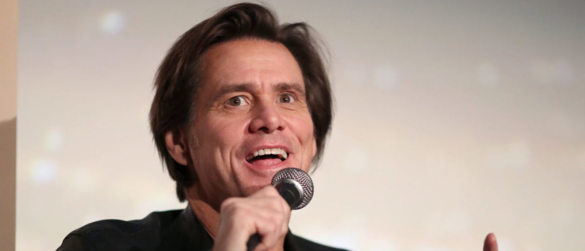 "HOLLYWOOD, CA - NOVEMBER 13: Jim Carrey speaks onstage during ""Jim & Andy: The Great Beyond - Featuring a Very Special, Contractually Obligated Mention of Tony Clifton"" at AFI FEST 2017 Presented By Audi at TCL Chinese 6 Theatres on November 13, 2017 in Hollywood, California. (Photo by Christopher Polk/Getty Images for AFI)"