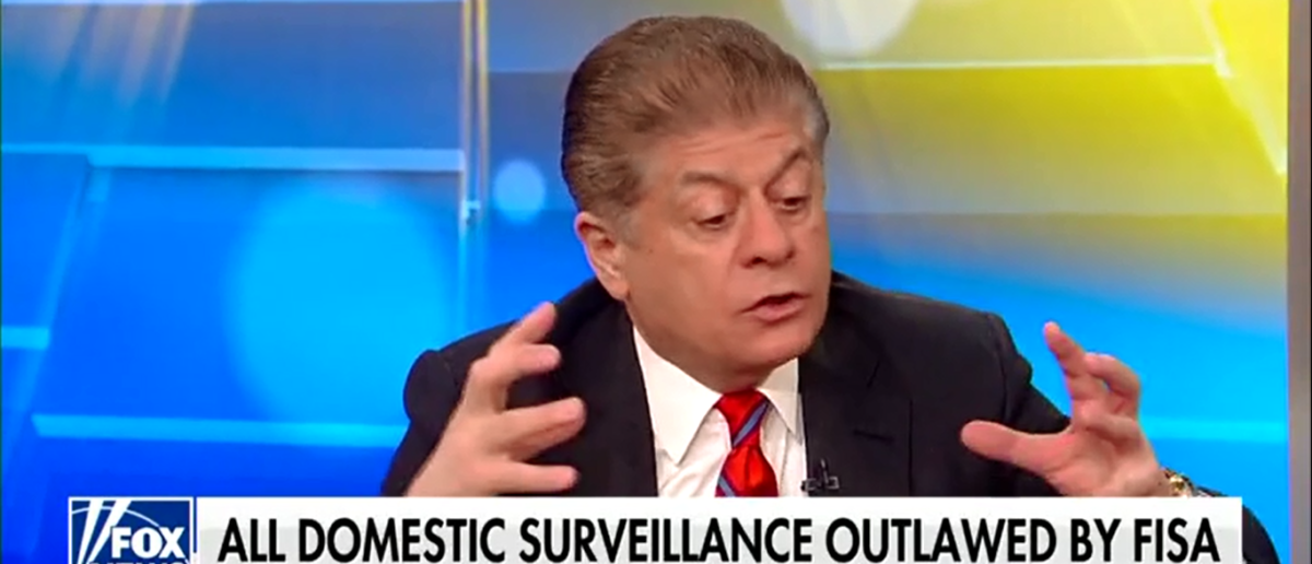 Judge Napolitano Fears FISA Abuse Is Leading To A Constitutional Crisis - Fox & Friends 3-22-18 (Screenshot/Fox News)
