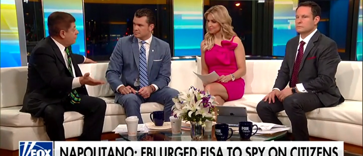 Judge Napolitano Thinks Inspector General Will Find 'Treasure Trove' Of Abuses By The FBI Against Trump - Fox & Friends 3-29-18 (Screenshot/Fox News)