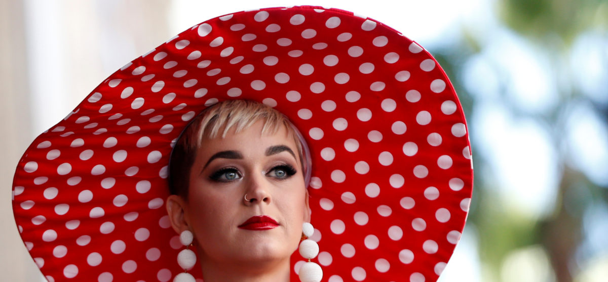 Singer Katy Perry attends the unveiling of the star for Minnie Mouse on the Hollywood Walk of Fame in Los Angeles, California, U.S., January 22, 2018. REUTERS/Mario Anzuoni