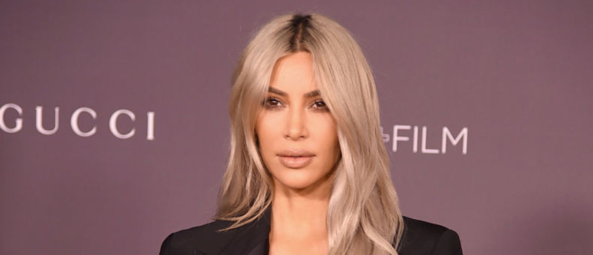 LOS ANGELES, CA - NOVEMBER 04: Kim Kardashian attends the 2017 LACMA Art + Film Gala Honoring Mark Bradford And George Lucas at LACMA on November 4, 2017 in Los Angeles, California. (Photo by Kevin Winter/Getty Images)