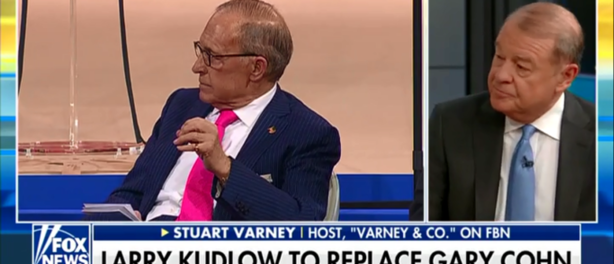 Kudlow Crashes White House Party And Stuart Varney Couldn't Be Happier - Fox & Friends 3-15-18 (Screenshot/Fox News)