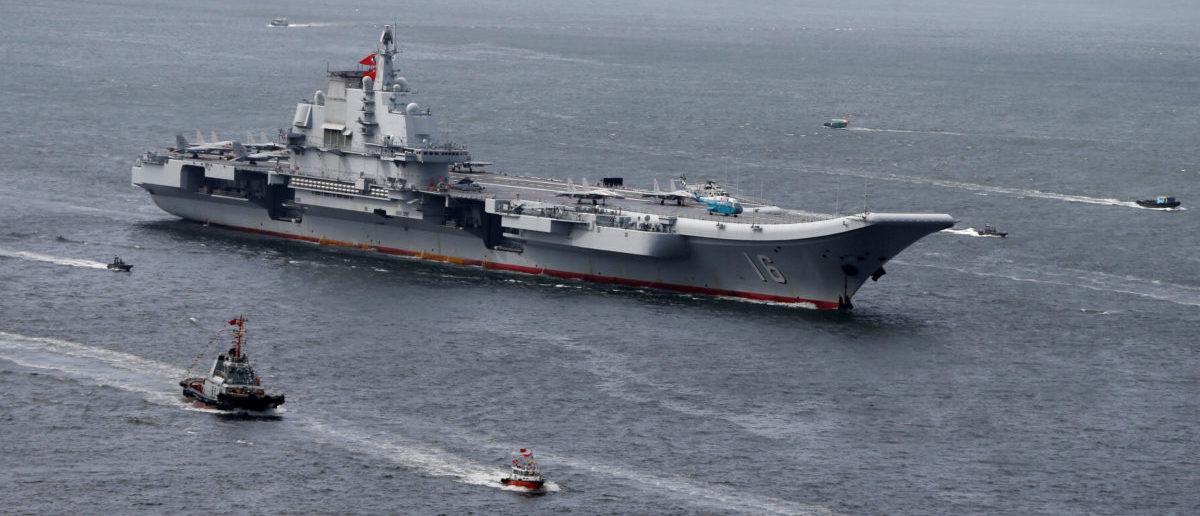 China's aircraft carrier Liaoning sails into Hong Kong, China, July 7, 2017. REUTERS/Bobby Yip