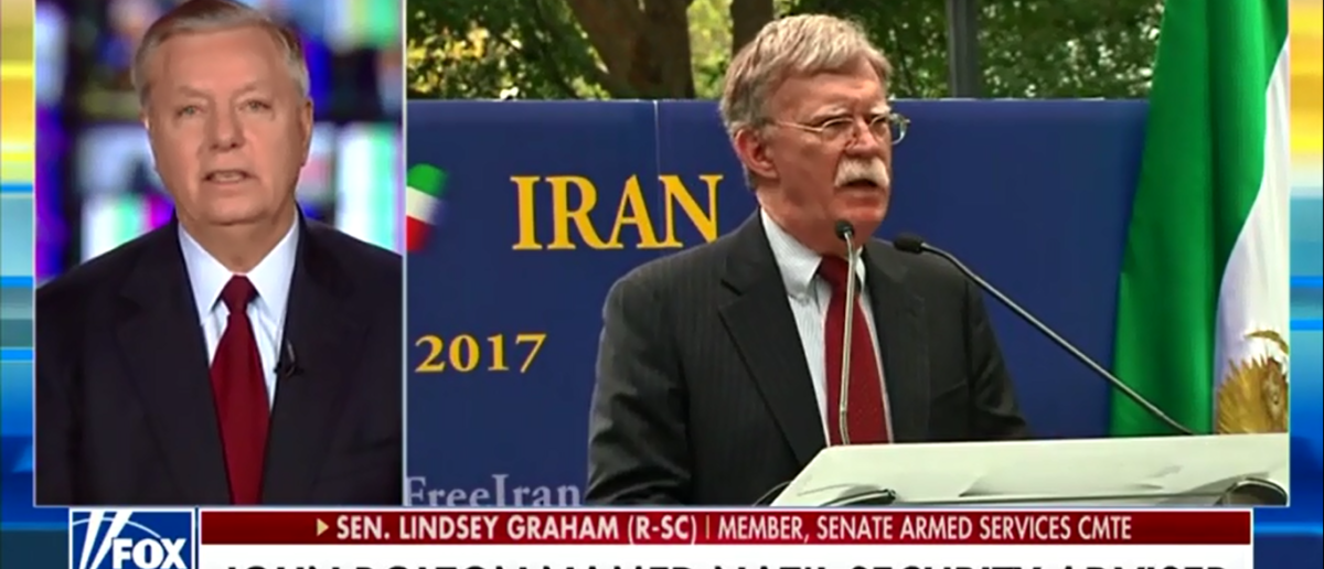 Lindsay Graham Gives The Green Light On Trump's Appointment Of John Bolton - Fox News 3-23-18