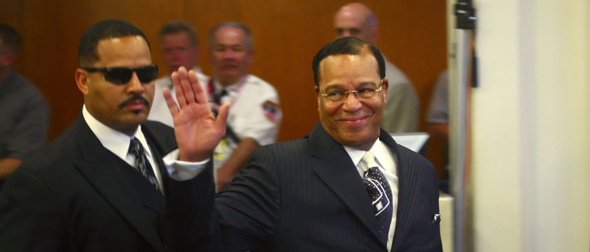 National Representative of the Nation of Islam Louis Farrakhan arrives for the 64th United Nations General Assembly in New York, September 23, 2009. REUTERS/Patrick Andrade (UNITED STATES POLITICS) - GM1E59N1T4E01
