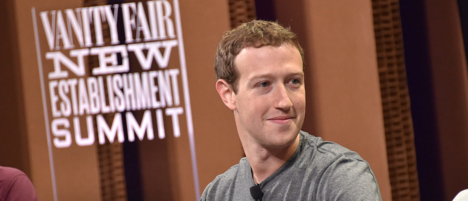 """SAN FRANCISCO, CA - OCTOBER 07: Facebook Founder, Chairman and CEO Mark Zuckerberg speaks onstage during """"Now You See It?The Future of Virtual Reality"""" at the Vanity Fair New Establishment Summit at Yerba Buena Center for the Arts on October 7, 2015 in San Francisco, California. (Photo by Mike Windle/Getty Images for Vanity Fair) 