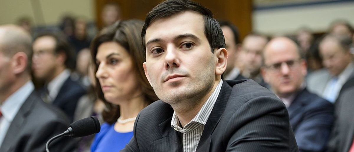 Martin Shkreli, the controversial former pharmaceuticals boss and hedge fund manager indicted on securities fraud charges, has been subpoenaed to appear at a hearing of a House of Representatives committee on oversight and government reform looking at the prescription drug market. / AFP / Brendan Smialowski (Photo credit should read BRENDAN SMIALOWSKI/AFP/Getty Images)