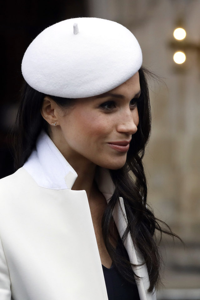 LONDON, UNITED KINGDOM - MARCH 12: Meghan Markle leaves after attending the Commonwealth Service at Westminster Abbey on March 12, 2018 in London, England. Organised by The Royal Commonwealth Society, the Commonwealth Service is the largest annual inter-faith gathering in the United Kingdom. (Photo by Kirsty Wigglesworth - Pool/Getty Images)