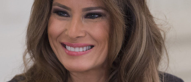 US First Lady Melania Trump will hold a panel on cybersecurity with technology leaders at the White House's State Dining Room in Washington, DC on March 20, 2018. / AFP PHOTO / SAUL LOEB (Photo: SAUL LOEB / AFP / Getty Images)