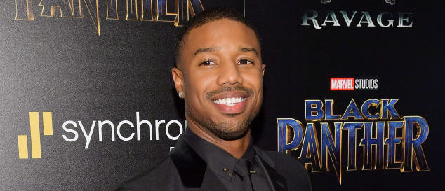 """NEW YORK, NY - FEBRUARY 13: Actor Michael B. Jordan attends the screening of Marvel Studios' """"Black Panther"""" hosted by The Cinema Society on February 13, 2018 in New York City.  (Photo by Roy Rochlin/Getty Images)"""
