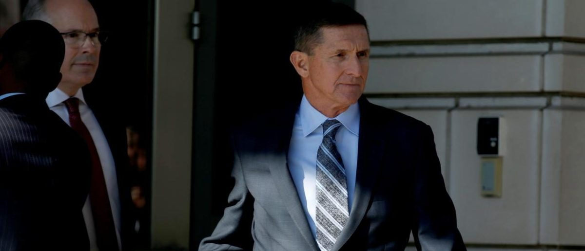 FILE PHOTO: Former U.S. National Security Adviser Michael Flynn departs after a plea hearing at U.S. District Court, in Washington, U.S., December 1, 2017. REUTERS/Joshua Roberts