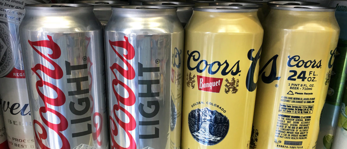 Coors beer cans are seen for sale at a store in Manhattan, New York, U.S., April 29, 2016. REUTERS/Shannon Stapleton