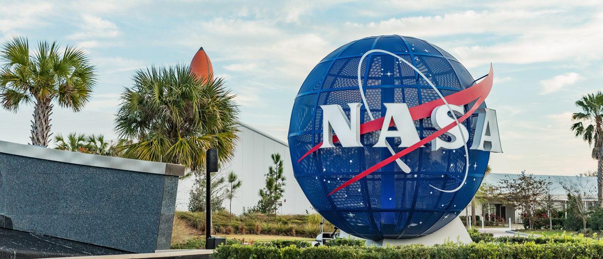NASA logo on mock Globe at NASA Kennedy Space Center. (Shutterstock/Nadezda Murmakova) | NASA Acting Administrator Is Retiring