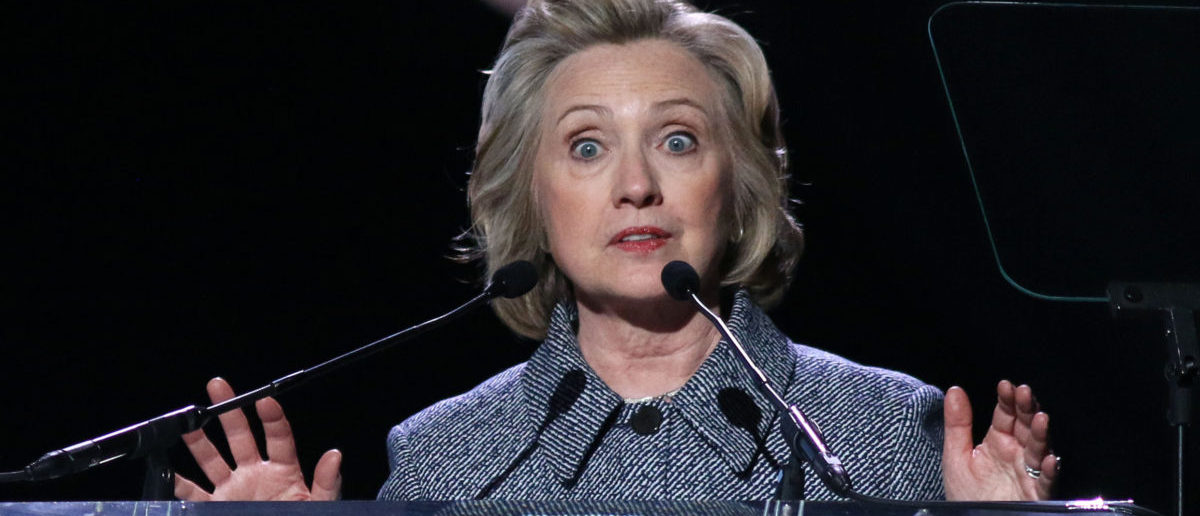 NEW YORK - March 10, 2015 Hillary Clinton speaks during the Step It Up For Gender Equality event at the Hammerstein Ballroom on March 10, 2015, in New York. (ShutterStock/J Stone)