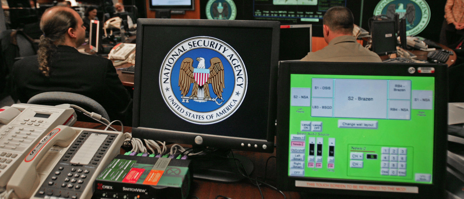 Fort Meade, UNITED STATES:  A computer workstation bears the National Security Agency (NSA) logo inside the Threat Operations Center inside the Washington suburb of Fort Meade, Maryland, intelligence gathering operation 25 January 2006 after US President George W. Bush delivered a speech behind closed doors and met with employees in advance of Senate hearings on the much-criticized domestic surveillance.  (Photo: PAUL J. RICHARDS/AFP/Getty Images) | Congress To DOD: Justify Cloud Contract