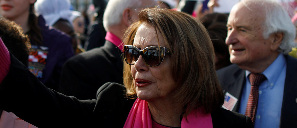 House Minority Leader Nancy Pelosi participates in the second annual Women's March in Washington, U.S. January 20, 2018. REUTERS/Aaron Bernstein