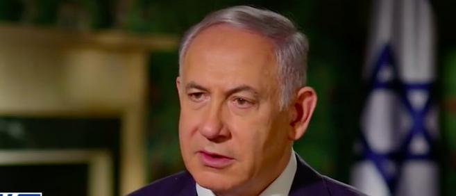 Israeli PM Netanyahu in an interview with Fox News Host Mark Levin. Fox Screenshot.