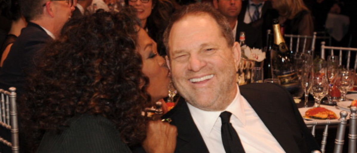 SANTA MONICA, CA - JANUARY 16:  Oprah Winfrey and Harvey Weinstein attend the19th Annual Critics' Choice Movie Awards at Barker Hangar on January 16, 2014 in Santa Monica, California. (Photo by Kevin Mazur/WireImage)