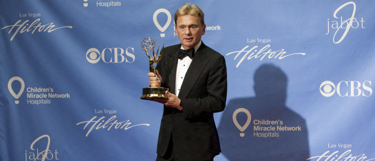 Pat Sajak poses backstage at the 38th Annual Daytime Emmy Awards show in Las Vegas, Nevada, on June 19, 2011. Sajak received a Lifetime Achievement Award. AFP PHOTO / ADRIAN SANCHEZ-GONZALEZ (Photo credit should read ADRIAN SANCHEZ-GONZALEZ/AFP/Getty Images)