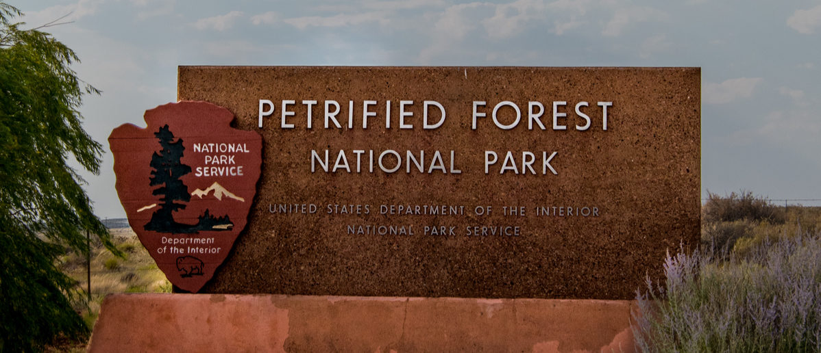 Petrified Forest Welcome Sign