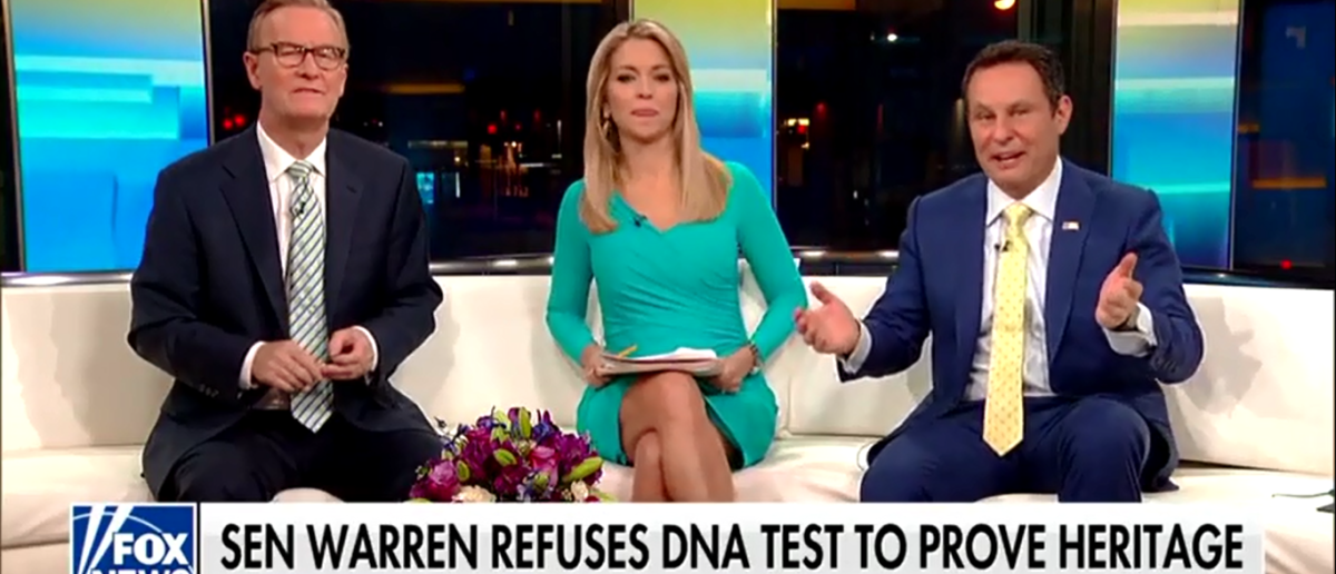 Pocahontas Refused To Take A DNA Test And Fox & Friends Brought The Hammer Down - Fox & Friends 3-12-18 (Screenshot/Fox News)