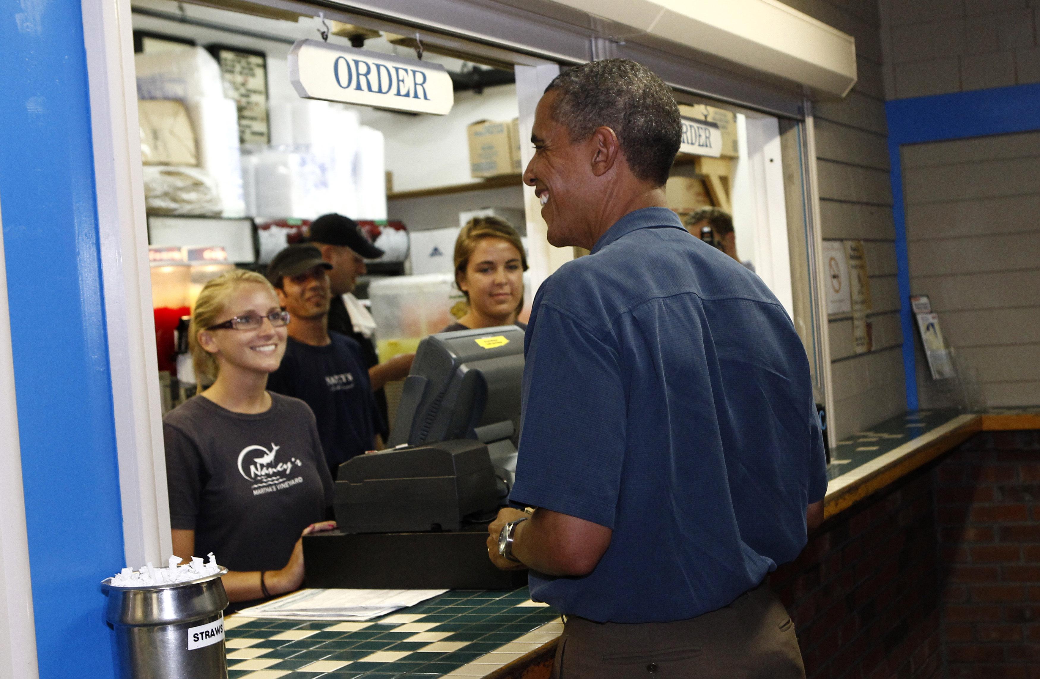 Barack Obama: Martha's Vineyard in summer (Reuters)