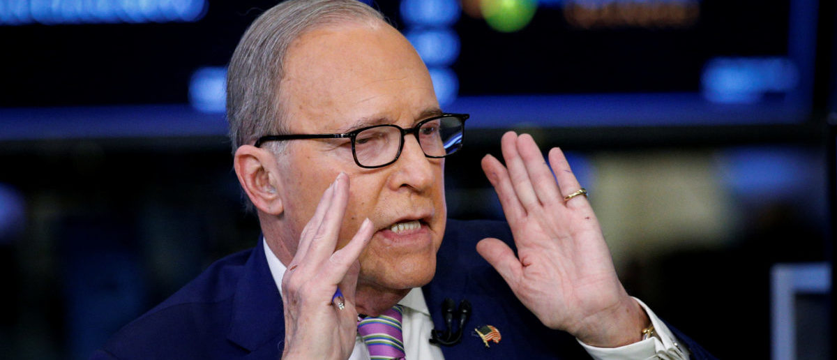 "Economic analyst Lawrence ""Larry"" Kudlow appears on CNBC at the New York Stock Exchange, (NYSE) in New York, U.S., March 7, 2018. REUTERS/Brendan McDermid - RC1D53F4E0E0"