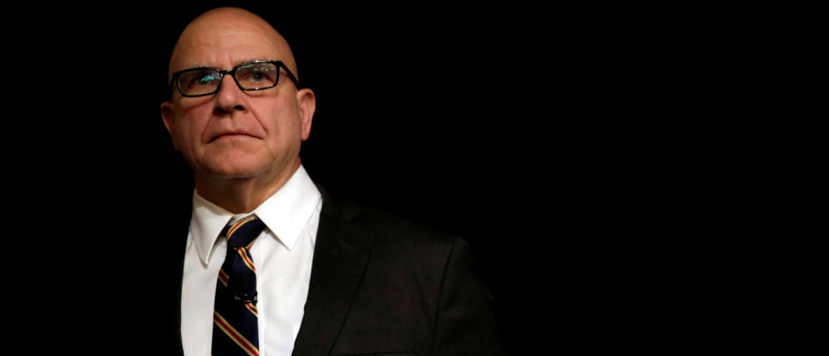 FILE PHOTO: National security adviser Lt. Gen. H.R. McMaster waits to be introduced at the FDD National Security Summit in Washington, DC, U.S., October 19, 2017.  REUTERS/Yuri Gripas/File Photo - RC11A6E3DA00