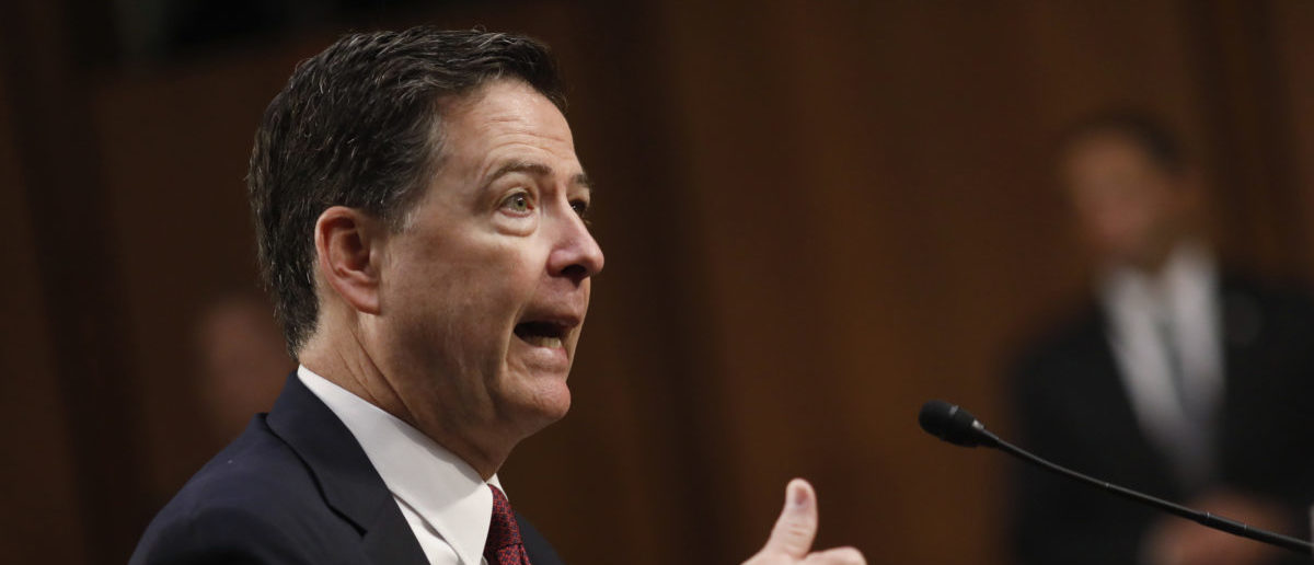 Former FBI Director James Comey testifies before a Senate Intelligence Committee hearing on Russia's alleged interference in the 2016 U.S. presidential election on Capitol Hill in Washington, U.S., June 8, 2017. REUTERS/Aaron P. Bernstein
