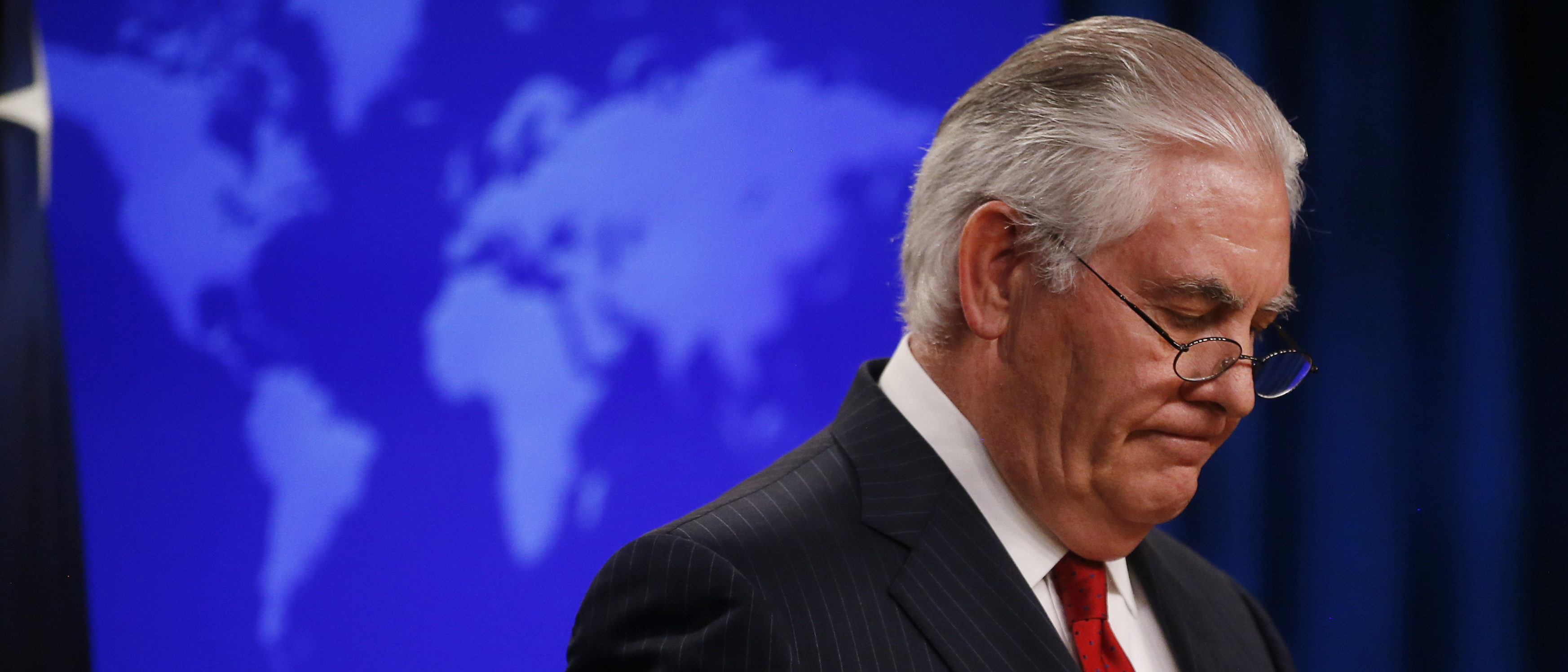 U.S. Secretary of State Rex Tillerson speaks to the media at the U.S. State Department after being fired by President Donald Trump in Washington, U.S. March 13, 2018. REUTERS/Leah Millis