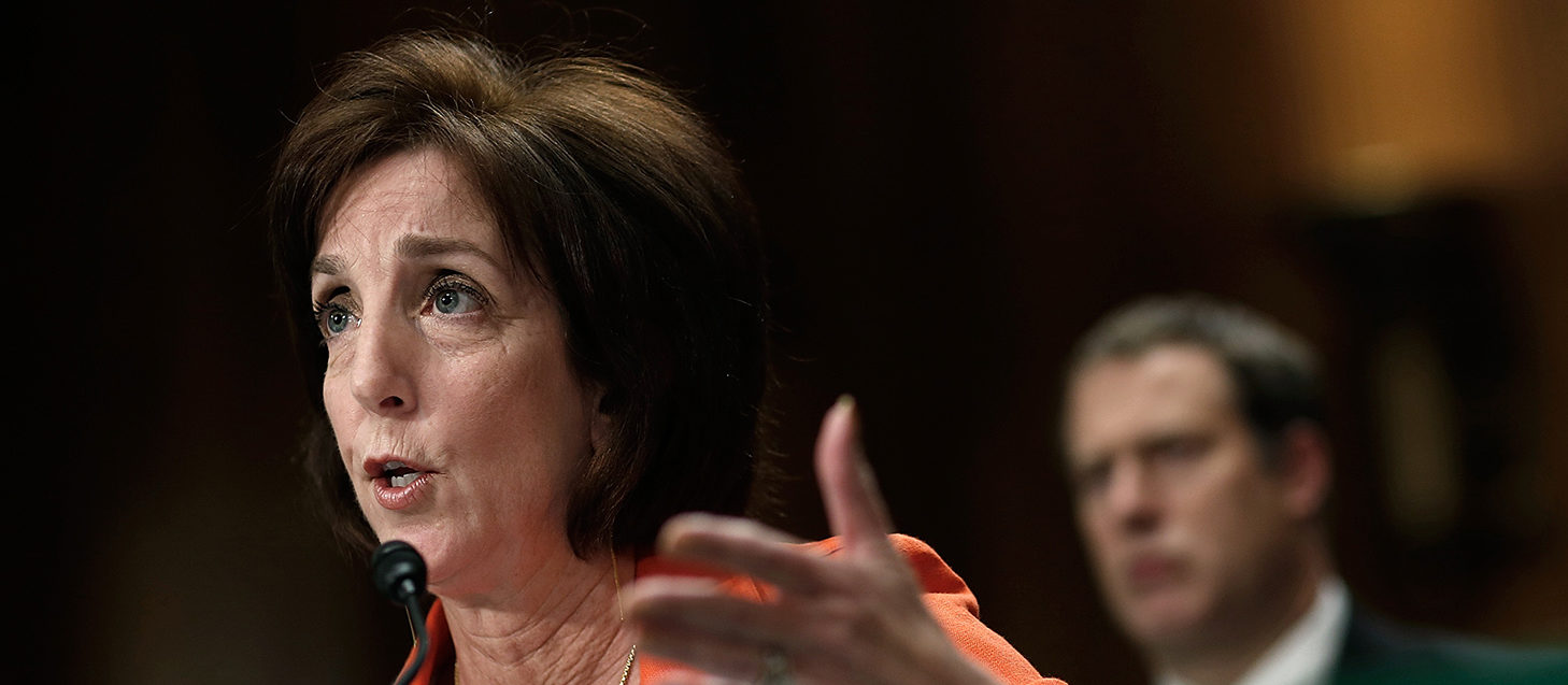 """Assistant U.S. Secretary of State for Western Hemisphere Affairs Roberta Jacobson testifies before the Senate Foreign Relations Committee May 20, 2015 in Washington, DC. The committee heard testimony on the topic of """"U.S. Cuban Relations - The Way Forward."""" (Photo by Win McNamee/Getty Images)"""