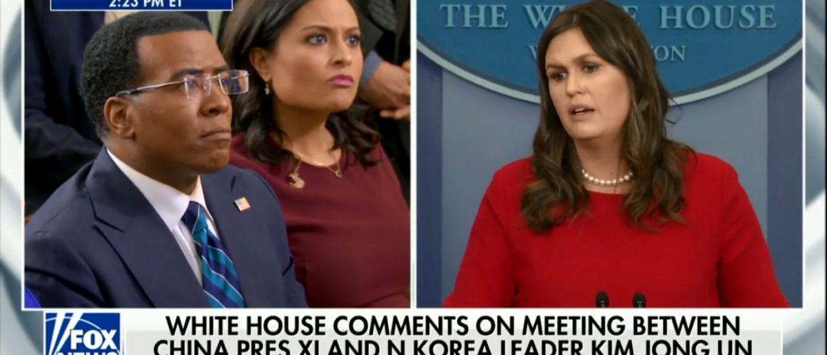 Sarah Sanders Calls Kim Jong-un's China Meeting A 'Positive Sign' That Trump Tactics Are Working - Press Briefing 3-28-18 | Sanders Says Pressures On NK Is Working