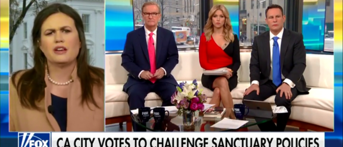 Sarah Sanders Gets Right To The Point And Calls Sanctuary Cities What The Are 'Dangerous' - Fox & Friends 3-20-18