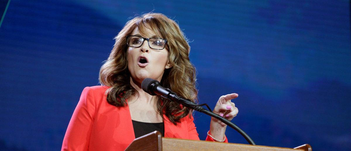 Sarah Palin speaks at the Western Conservative Summit in Denver, Colorado, U.S., July 1, 2016. REUTERS/Rick Wilking