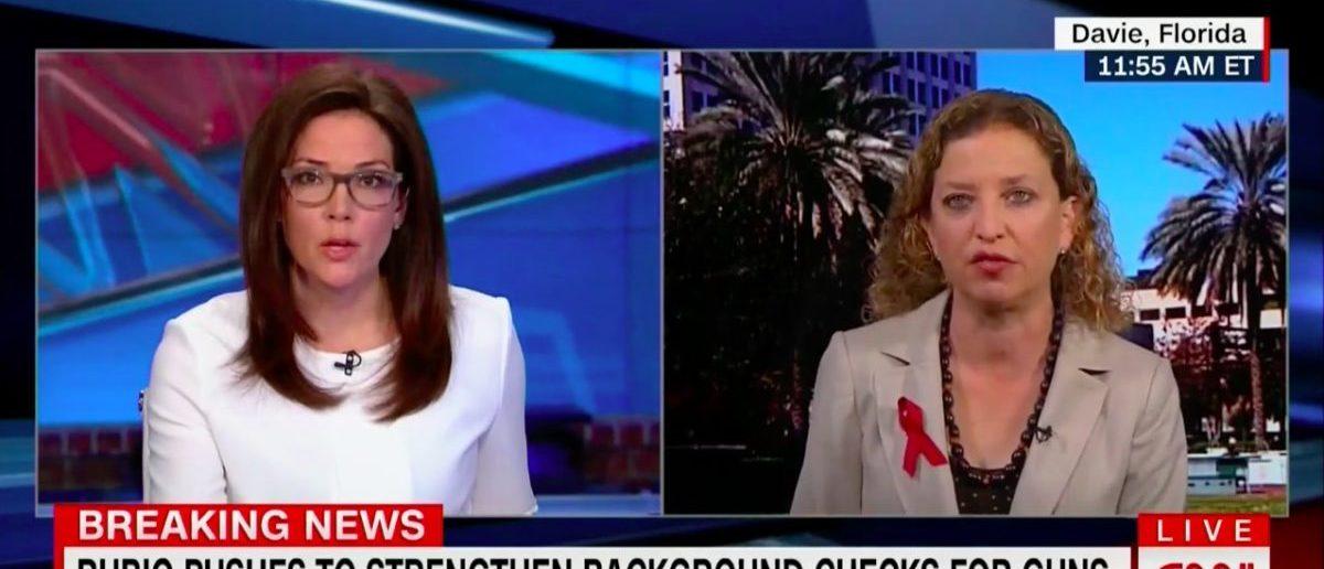 Screen Shot Debbie Wasserman Schultz (CNN: March 1, 2018)