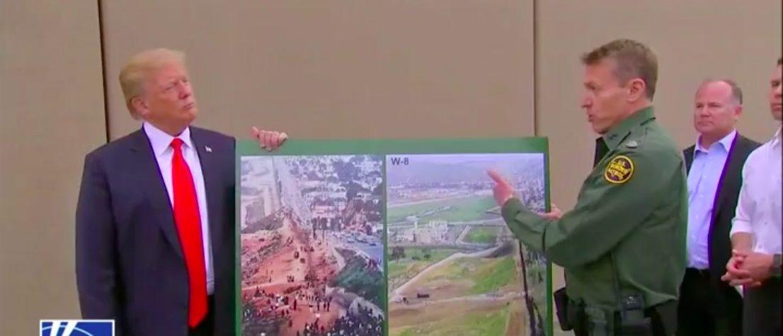 Screen Shot Donald Trump Visits Wall Prototypes (Fox News: March 13, 2018)