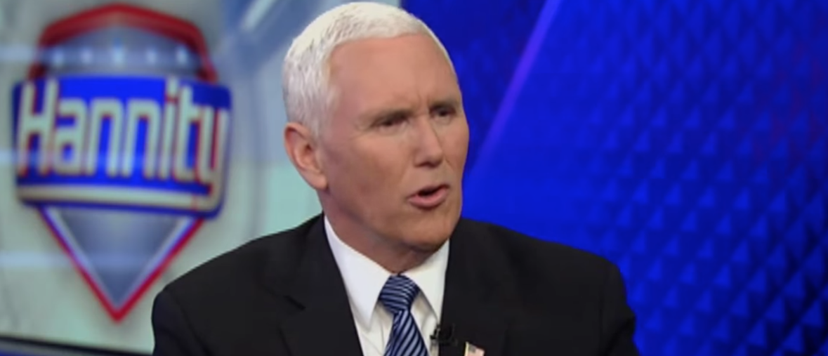 Vice President Mike Pence blasted Democratic Oakland Mayor Libby Schaaf for sending out a warning message to illegal immigrants before a sweep in the Bay Area. (Photo: Screen Shot/Youtube/Mike Pence/Fox News)