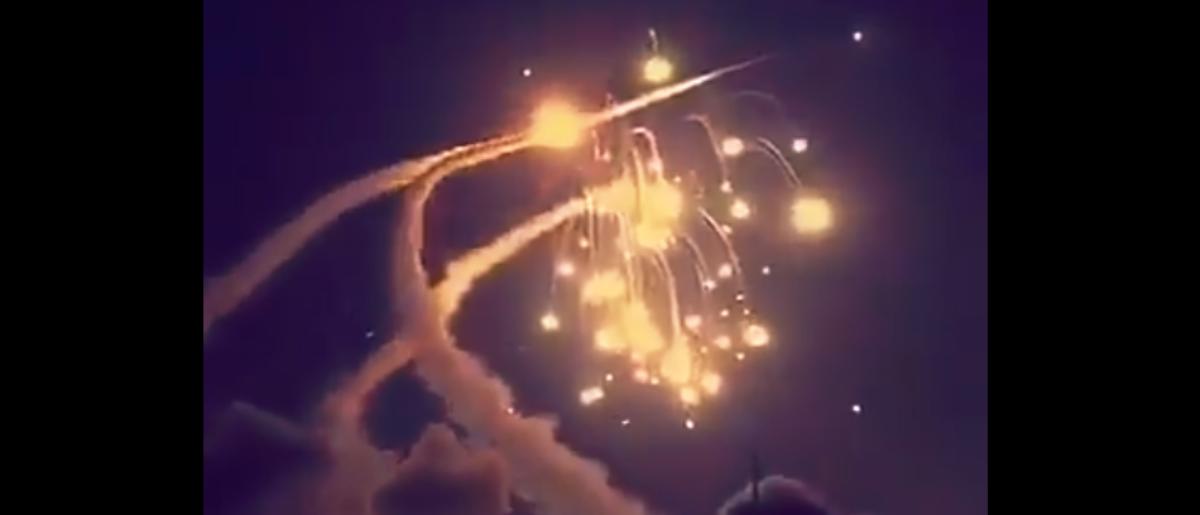 Screenshot via Twitter/@Strategic Sentinel | Saudis Target Houthi Ballistic Missiles