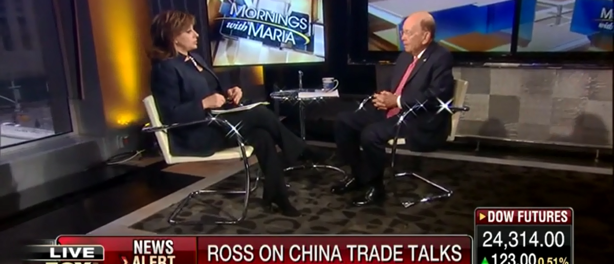 Secretary Of Commerce Puffs Out His Chest At China You Don't Want A Trade War With Us - Fox Business 3-27-18