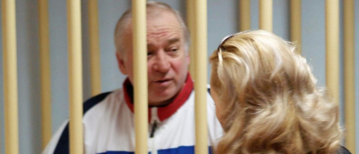 Sergei Skripal, a former colonel of Russia's GRU military intelligence service, looks on inside the defendants' cage as he attends a hearing at the Moscow military district court, Russia August 9, 2006. Picture taken August 9, 2006. Kommersant/Yuri Senatorov via REUTERS