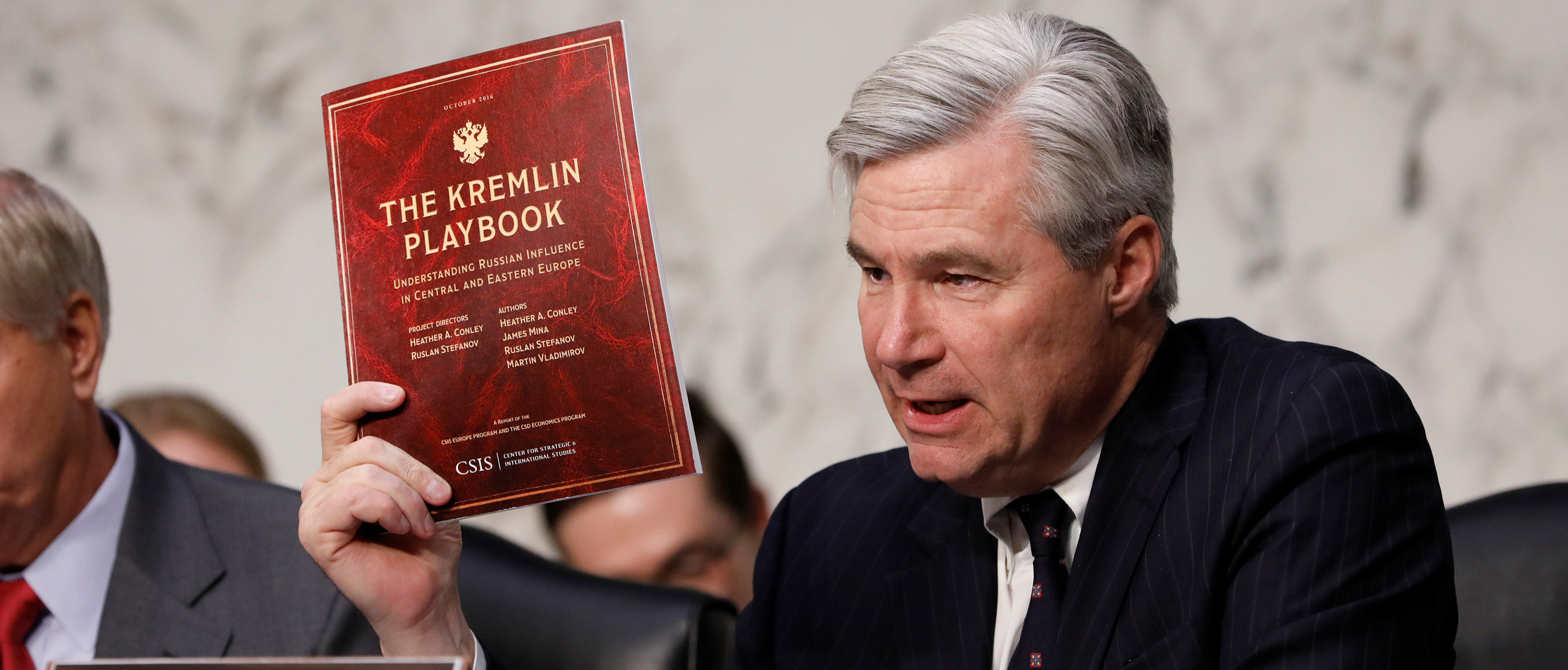 Sen. Sheldon Whitehouse (D-RI) asks a question as former acting Attorney General Sally Yates testifies about potential Russian interference in the presidential election before the Senate Judiciary Committee on Capitol Hill Washington, D.C., U.S. May 8, 2017. REUTERS/Aaron P. Bernstein | TPX IMAGES OF THE DAY