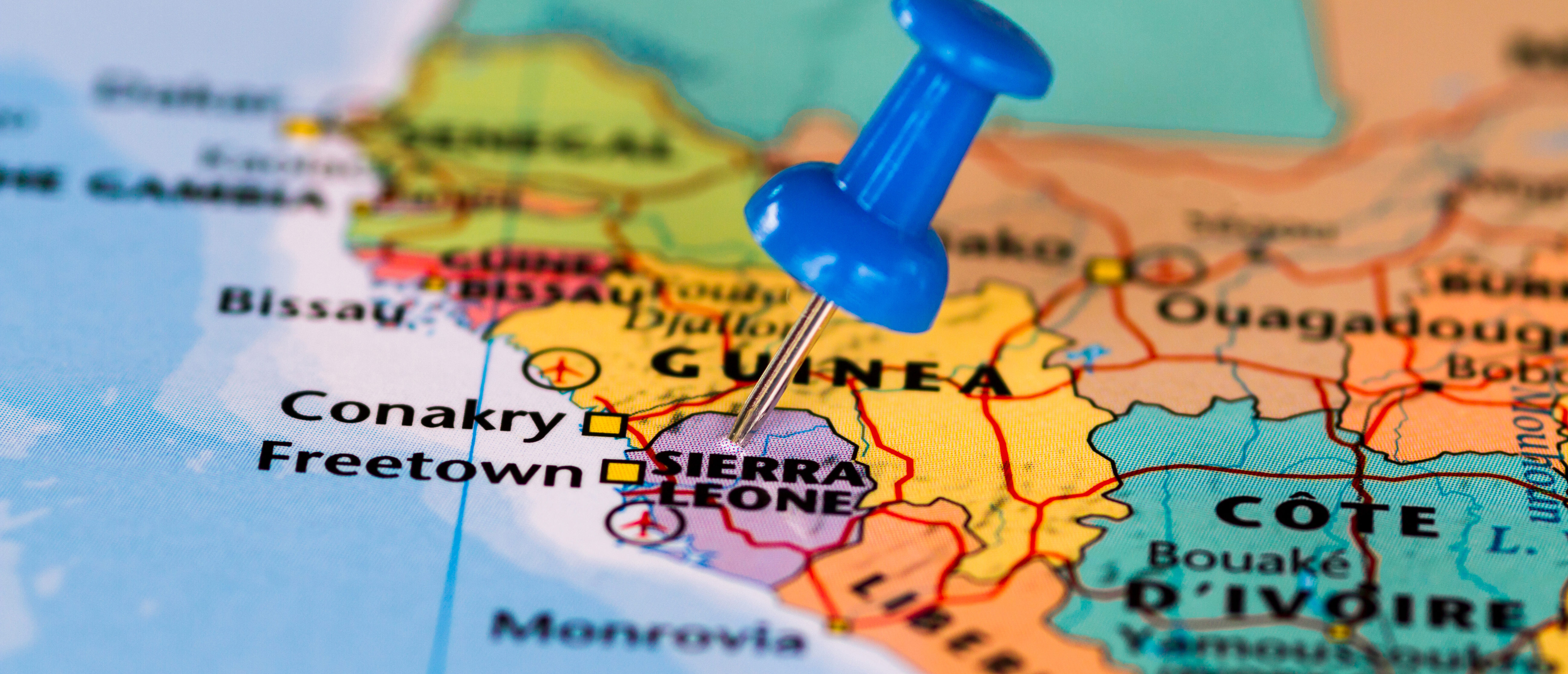 A map of Sierra Leone. (Shutterstock)
