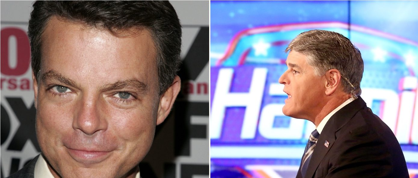 Smith Hannity Left: Photo by Paul Zimmerman/Getty Images Right: Photo by Peter Kramer/Getty Images